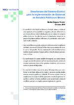 Enseñanzas del sistema ecobici para la implementación de sistemas de bicicleta pública en México