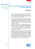La sustentabilidad en México desde la mirada metropolitana