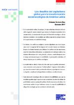 Los desafíos del capitalismo global para la transformación social-ecológica de América Latina