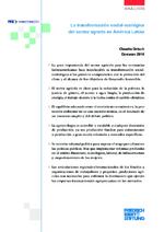 La transformación social-ecológica del sector agrario en América Latina